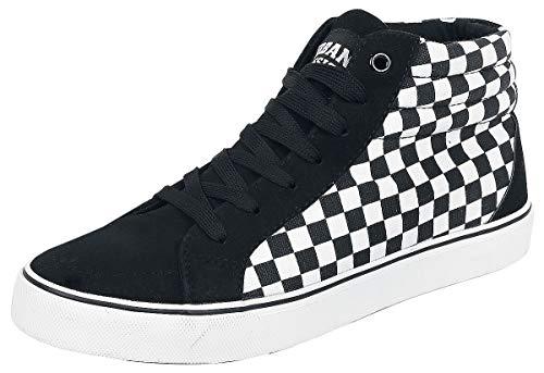 Urban Classics Unisex-Erwachsene Printed High Canvas Hohe Sneaker, Mehrfarbig (Black/White 00826), 43 EU
