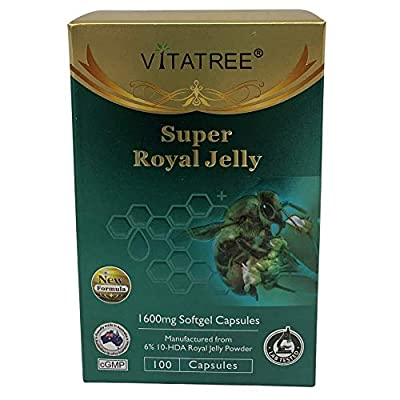 VitaTree Super Royal Jelly 1600mg 6% 10-HDA 100 Softgel Capsules - Made in Australia