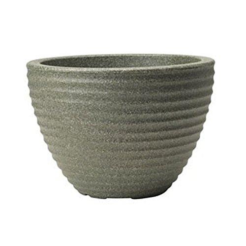Stewart Vaso Basso a Forma di vasetto di Miele, plastica, Green, 49 cm
