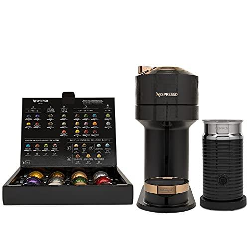Nespresso Vertuo Next Coffee and Espresso Machine with Aeroccino by DeLonghi (Black/Rose Gold)