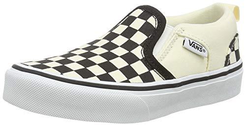 Vans Asher Sneaker, Weiß (Checkers/Black/Natural), 34 EU