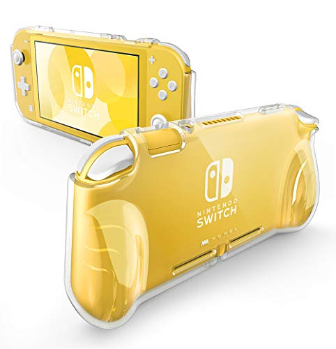 Mumba Case for Nintendo Switch Lite 2019, [Thunderbolt Series] Protective Clear Cover with TPU Grip (Clear)