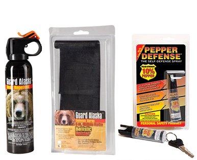 Pepper Defense Guard Alaska Bear Repellent + Belt Clip Holster Max Strength 10% OC Pepper Spray