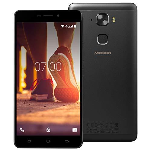 "MEDION Life X5520 13,97cm (5,5"" Zoll Full HD) Smartphone (2.5 D Glas, Octa-Core, 64GB Speicher, 4GB RAM, 13MP Kamera, Fingerabdruck, LTE, Android 6.0) Titan"