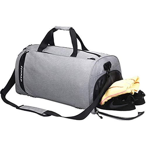 Bolsa de Deporte Travel Duffle Bag Impermeable,Bolsas Gimnasio con Compartimento Hombre Mujer Fin de Semana Grande Bolsa de Viaje con Compartimento para Zapatos , Separada Seco y Humedo 40L
