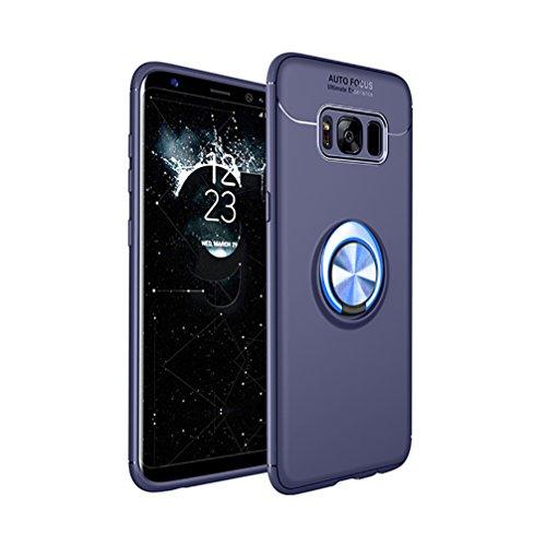 ANERNAI Galaxy S8 Plus 360 Grad drehbarer Ring, stoßfest, kompatibel mit magnetischer Autohalterung für Samsung Galaxy S8 Plus, Galaxy S8 Plus, Blau-Blau