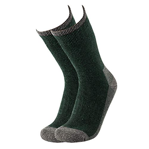 KAVANYISO Men's Merino Wool Hiking Socks Breathable Hiking Crew Thicken