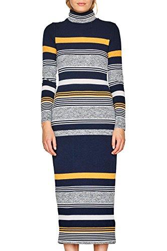 ESPRIT Damen 107EE1E008 Kleid, Mehrfarbig (Navy 400), Medium