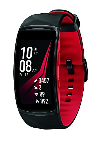 Samsung Gear Fit2 Pro Smart Fitness Band (Large), Diamond Red, SM-R365NZRAXAR – US Version with...