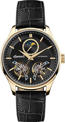 Ingersoll The Chord Mens Automatic Watch I07202 with a Black Dial and a Black Genuine Leather band