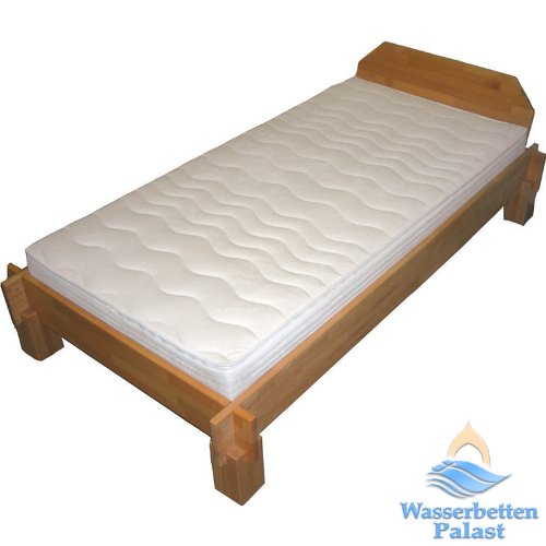 Moonlight Wellness Wasserbett Wasserbettmatratze für Lattenrost - Bezug Frottee, 50% beruhigt, Größe 90x200cm