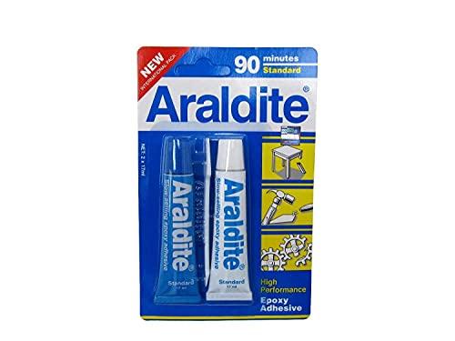 Araldite Standard – Epoxy-Kleber mit progressiver Aufnahme für schwierige / anspruchsvolle Verklebungen – 34 ml