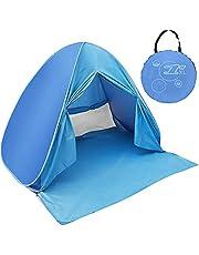 ワンタッチ テント サンシェードテント日除けUV50+カーテン付き組み立て不要 5秒設置 簡易 ポップアップ 2-3人用 超軽量 防水 通気性 アウトドアキャンプ用品 キャリーバッグ付き