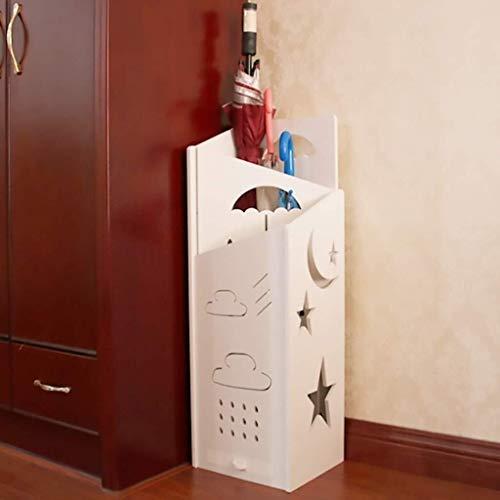 LINrxl Portaombrelli in Legno-plastica Bianca Creativo Nordic Piano Ombrello Benna casa Hotel Lobby a Prova di umidità del Pannello Umbrella Rack di stoccaggio