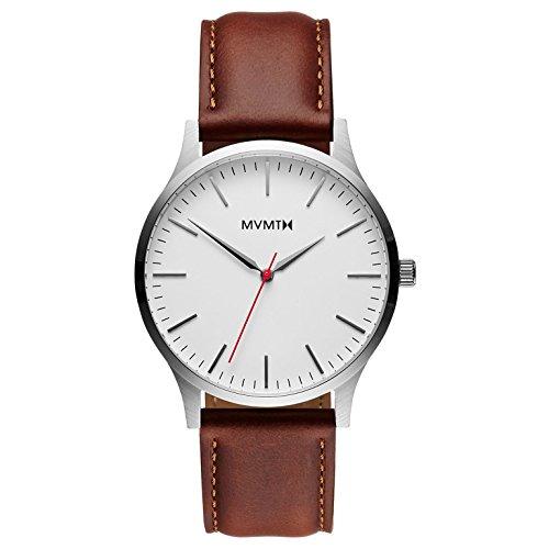 MVMT Herren Analog Quarz Uhr mit Leder Armband D-MT01-SNA