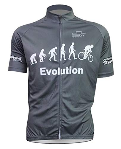 Carbonless Riding Cycling Jersey Evolution Men?s Short Sleeve MTB Jersey Full Zip Moisture Wicking, Breathable Bicycle Tops, As Picture, XXX-Large