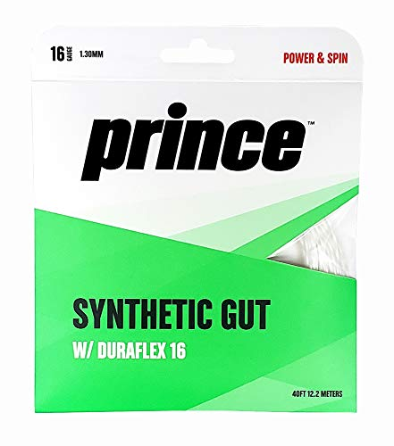 Prince Synthetic Gut with Duraflex Tennis String Set - 16L gauge