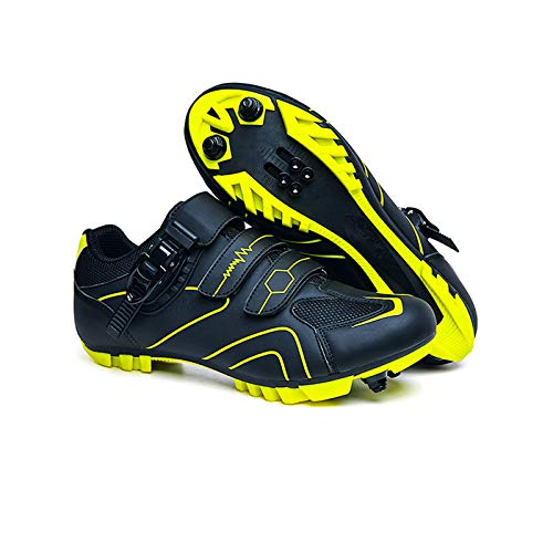 Scarpe da Ciclismo da Uomo MTB Bike Shoes Womens Mountain Ridge Shoes Tacchetti SPD Suola di Gomma Indoor E Outdoor