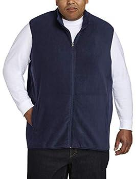 Amazon Essentials Men s Big & Tall Full-Zip Polar Fleece Vest fit by DXL Navy 2XLT