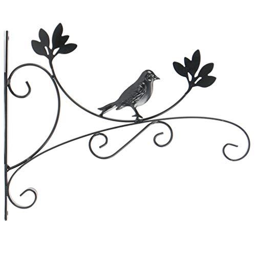 Hemoton Haken für Blumenampel,Hängende Korbhalterung Pflanzenhaken Metall im Freien Gartenwand Pflanzenhalter Kleiderbügel für Laternen Schmiedeeisen Hochleistungshalterung Pflanzer Blumenhänger für