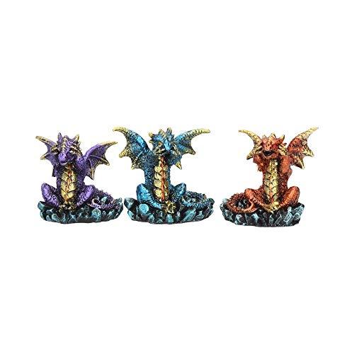 Nemesis Now Three Wise Dragons Figurine 13cm Metallic Multi-coloured