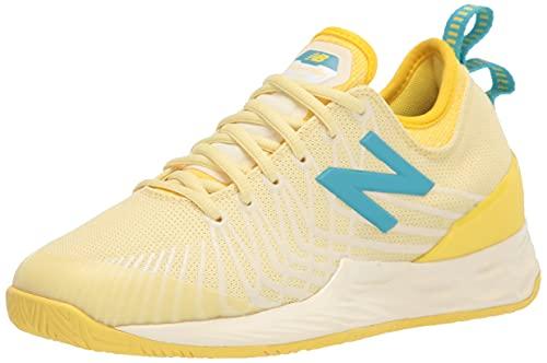 New Balance Women's Fresh Foam Lav V1 Hard Court Tennis Shoe, Lemon Haze/Citra Yellow, 8