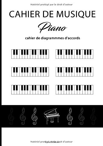 Cahier de musique pour Piano: Livre de diagrammes d'accords | 14 diagrammes par page | 100 pages - A4 | Composez sans partition ni solfège (Piano - Diagrammes d'accords)