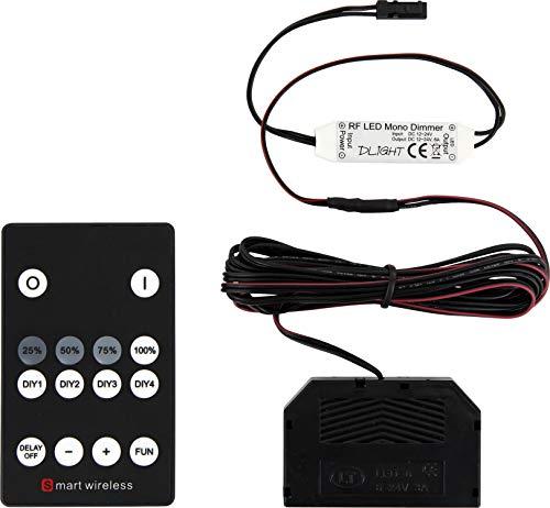 LED Funk Controller + Verteiler mit Dimm- und Aufhellungsfunktion - max. 72 W - für 12V MINI-AMP LED Leuchten und Strahler