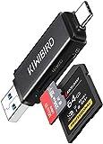 KiWiBiRD USB C SD Kartenleser, Micro SD auf Typ C Speicherkarten Adapter, USB 3.0 Kartenlesegerät für SDHC SDXC UHS-I Karte Kompatibel mit MacBook Air Pro, iPad Pro, Galaxy S20, Surface, Chromebook