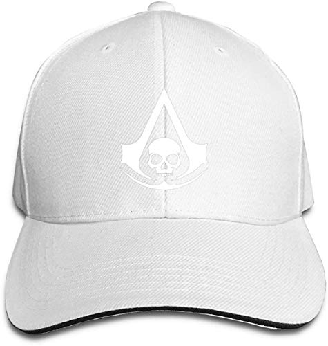 Shade Unisex Baseball Cap Trucker Hats Assassin'S Creed 4 Black Flag Pirate Skull Logo Casquette Black