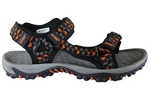 Hi-Tec - Sandalias de Vestir para Hombre Negro y Naranja