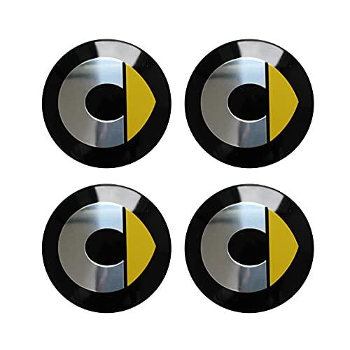 Tapas para tapacubos 4 PCS / SET ETIQUETAS DE LA RUEDA Compatible con MERCEDES SMART FORTWO FORFOUR 453 451 450 Cubierta de rueda modificada Pegatinas de automóvil Accesorios 55mm Tapas centrales para