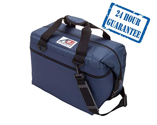 AO Coolers Original Soft Cooler with High-Density Insulation, Navy Blue, 24-Can