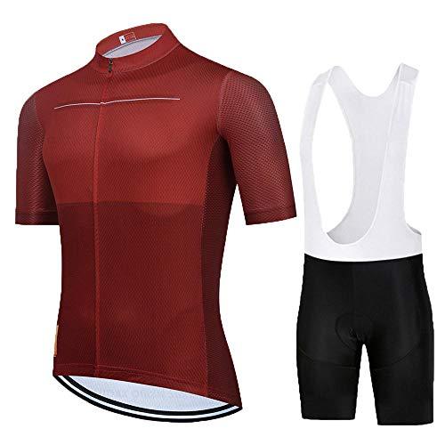 HXTSWGS Traje Ciclismo Hombre para Verano Ciclismo Maillot,El Mejor Equipo de Ciclismo para Hombre, Camiseta de Manga Corta, Maillot de Ciclismo, Cubierta de Bicicleta de Carretera de verano-A08_3XL