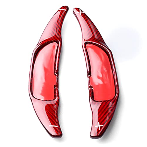 JIUTAI Auto-Lenkrad-Paddle Shift Rote Kohlefaser-Auto-Lenkrad-Verschiebung Paddel-Gangschaltung Für Mercedes Benz AMG A45 C63 E63 S65 CLA45 CLS63 Shift Paddle