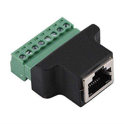 Schroefklemadapter, DVR Ethernet-aansluiting RJ45-bus naar 8-polige schroefklemaansluiting