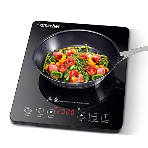 Plaque Induction Portable Amzchef, plaque de...