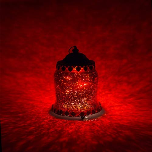 Home&Decorations Lanterne LED Décorative Rouge en Verre – Éclairage Vintage en Forme d'Urne pour Mariage, Anniversaire, Fête, Dîner
