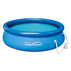 Splash the day away in the comfort and privacy of your own backyard with this inflatable pool Round shape measures 8 feet in diameter and 2.5 feet deep for a 608-gallon capacity Includes RX330 pool filter pump with GFCI Rapid installation allows you ...