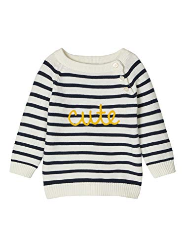 NAME IT Mädchen NBMDISMO LS Knit Pullover, Snow White, 68