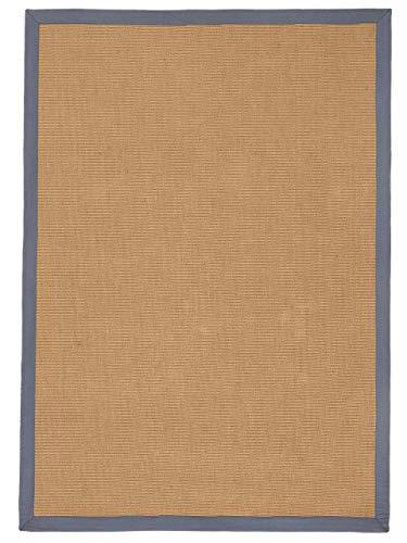 carpetfine Sisalteppich Grau 80x150 cm | Moderner Teppich für Wohn- und Schlafzimmer