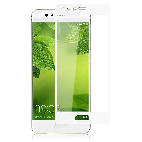 X-level Panzerglas Schutzfolie für Huawei P10 Plus, 9H Festigkeit Full-Cover Bildschirmschutzfolie, Anti-Kratzen, Anti-Fingerabdruck, Anti-Öl, Anti-Bläschenm - Weiß
