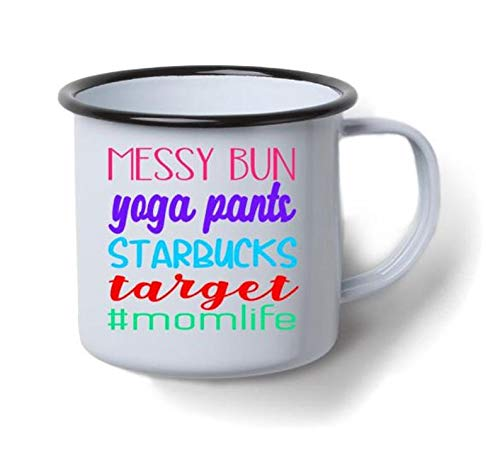 rommelige broodje yoga broek Starbucks doel #Momlife Decal *** Decal alleen*** koffie mok Decal - doel Decal - Starbucks Decal