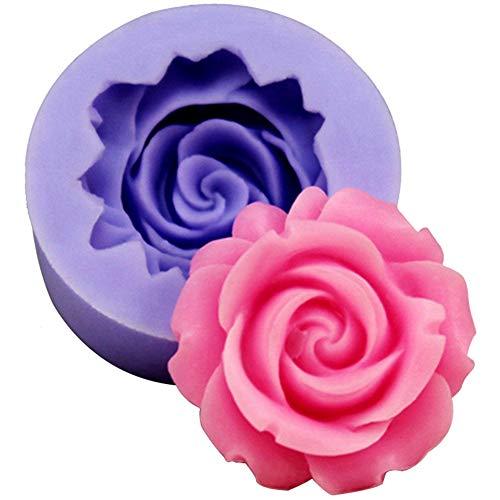 Gespout Moule à Cake Anti-adhérent en Silicone Couleur aléatoire Forme de Rose Outil Cuisson de Cuisine DIY