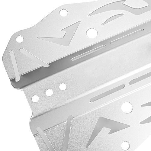 Tomantery Placa Posterior de Buceo con Textura metálica resaltada Placa Posterior ahuecada de aleación de Aluminio Premium Resistente y Duradera, para Equipos de Buceo(Silver)