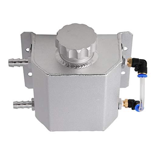 H HILABEE Botella de Agua Tanque Recogedor de Aceite Depósito 1L Recuperación de Refrigerante Aluminio