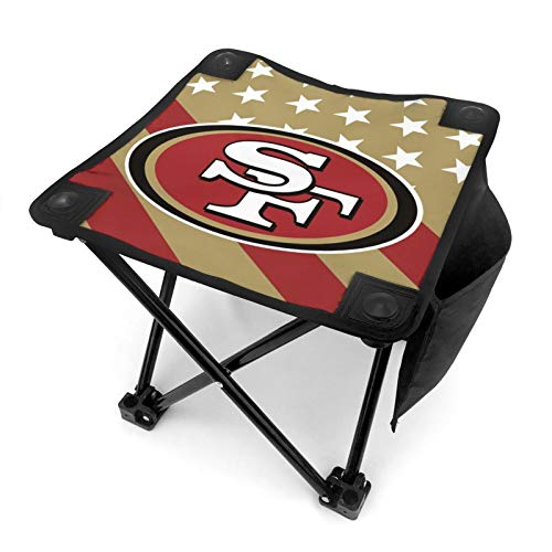 VF LSG San Francisco 49Ers Camping Stool Portable Camp Stool for Camping Fishing Hiking Gardening Beach Camping Seat with Carry Bag 12in x 12in