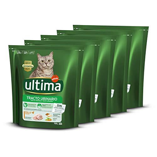 ultima Pienso para Gatos con Problemas del tracto urinario: Pack de 5 x 750 g - Total: 3,75 kg