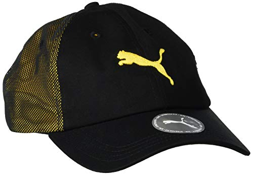 PUMA Ftblnxt Cap Gorra, Hombre, Puma Black-Ultra Yellow, OSFA