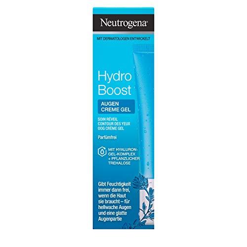 Neutrogena Hydro Boost Belebendes Augen Creme Gel / Die erfrischende 3-in-1 Pflege stärkt die Hautschutzbarriere, spendet 24h Feuchtigkeit und bietet einen Frischekick / 15ml